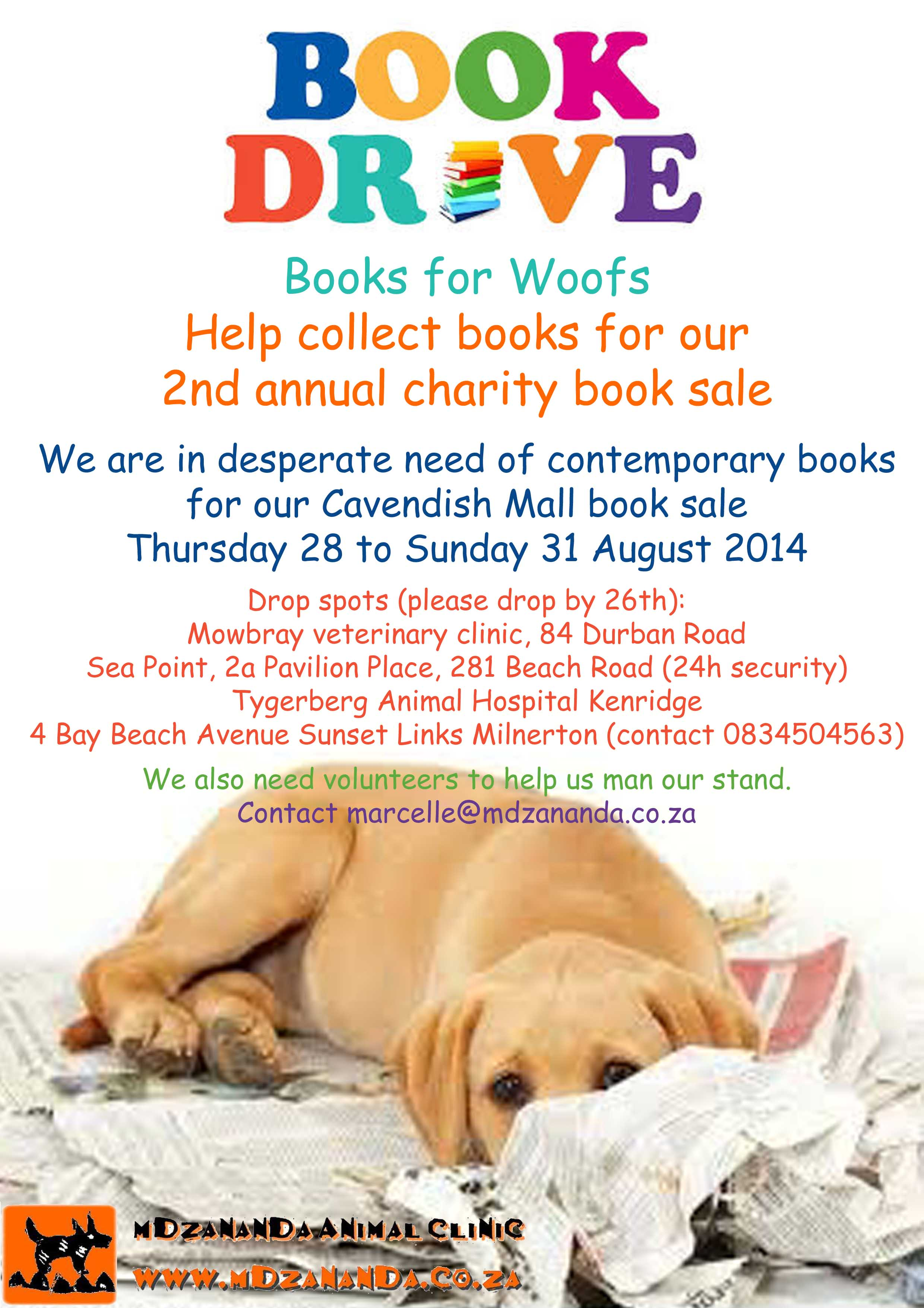 books for woofs book drive doggy news. Black Bedroom Furniture Sets. Home Design Ideas